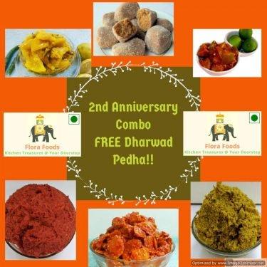 2nd Anniversary Combo – FREE Dharwad Peda!!
