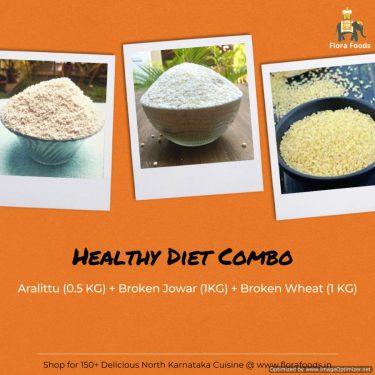 Aralittu + Broken Jowar + Dalia (Broken Wheat) = Healthy Diet Combo