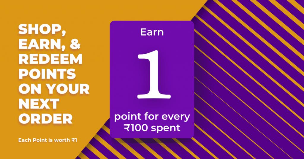 Earn Reward Points on Shopping